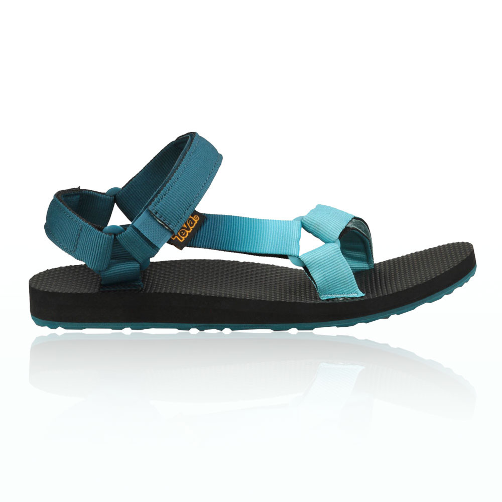 8a4ef6e46 Details about Teva Original Universal Womens Blue Black Walking Summer Shoes  Sandals