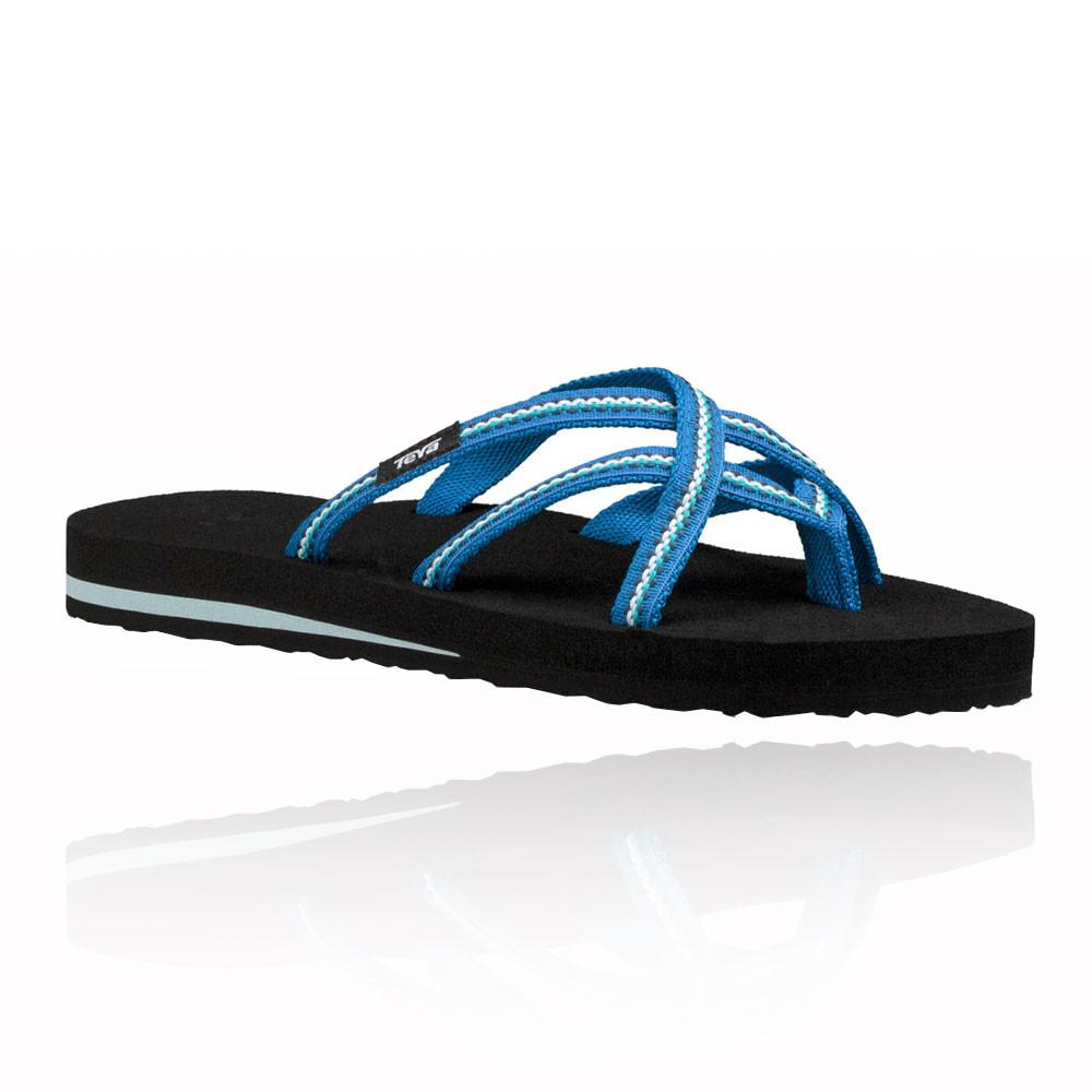 ba1c1464c4955 Teva Womens Olowahu Flip Flops Blue Sports Outdoors Breathable Lightweight