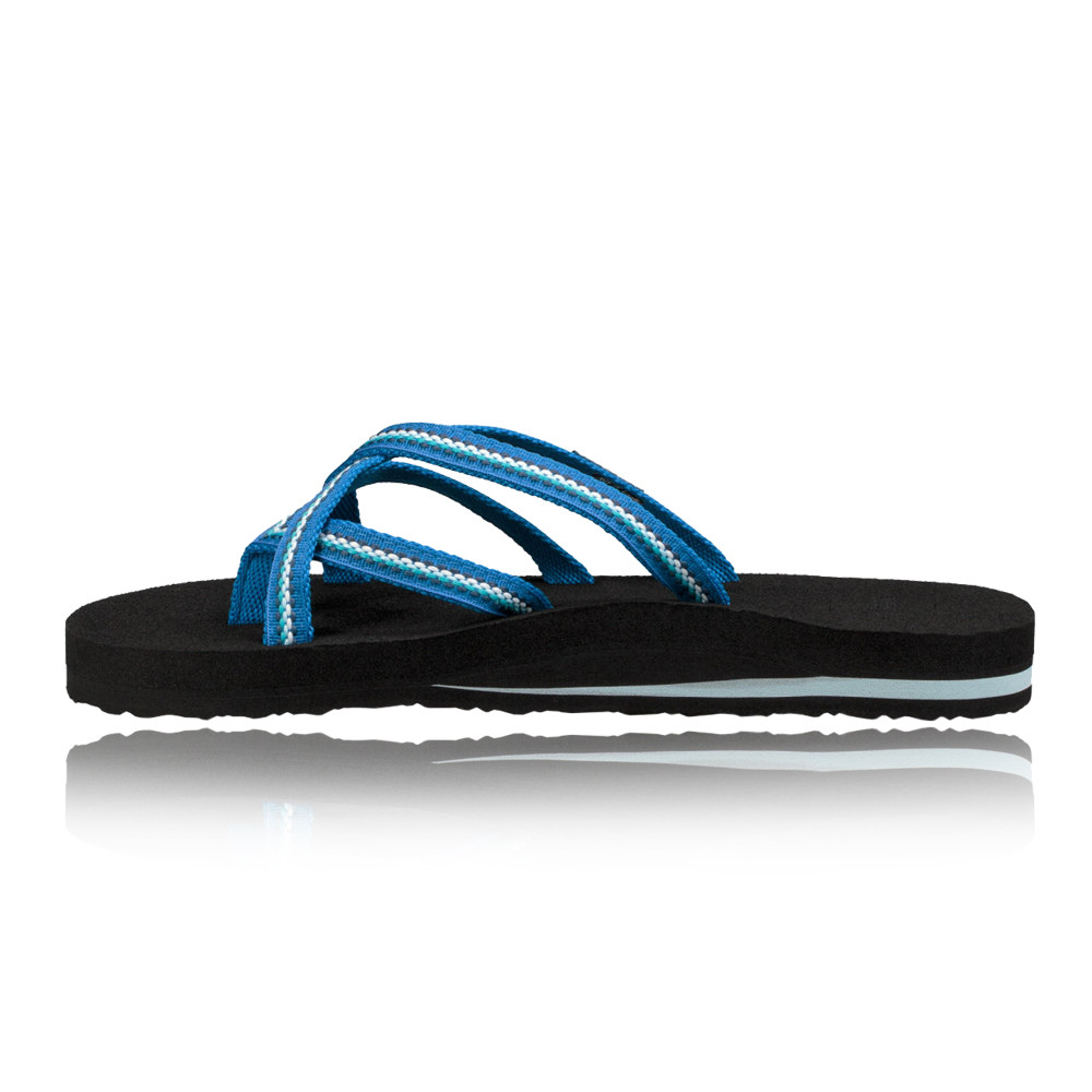 f8ce6217f4f68 Details about Teva Womens Olowahu Flip Flops Blue Sports Outdoors  Breathable Lightweight