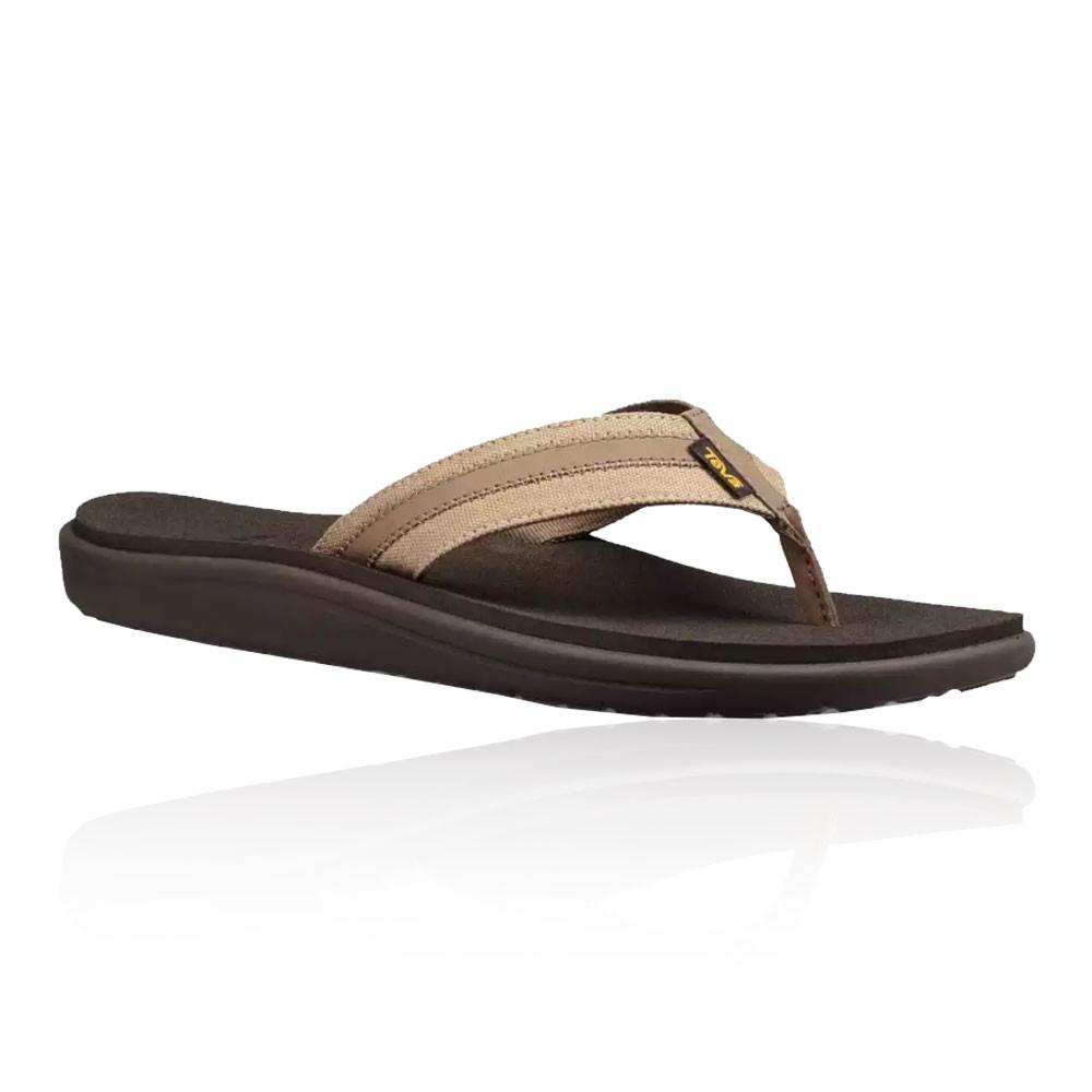 5bda63e34cf2 Teva Mens Voya Canvas Flip Shoes Sandals Brown Sports Outdoors Waterproof