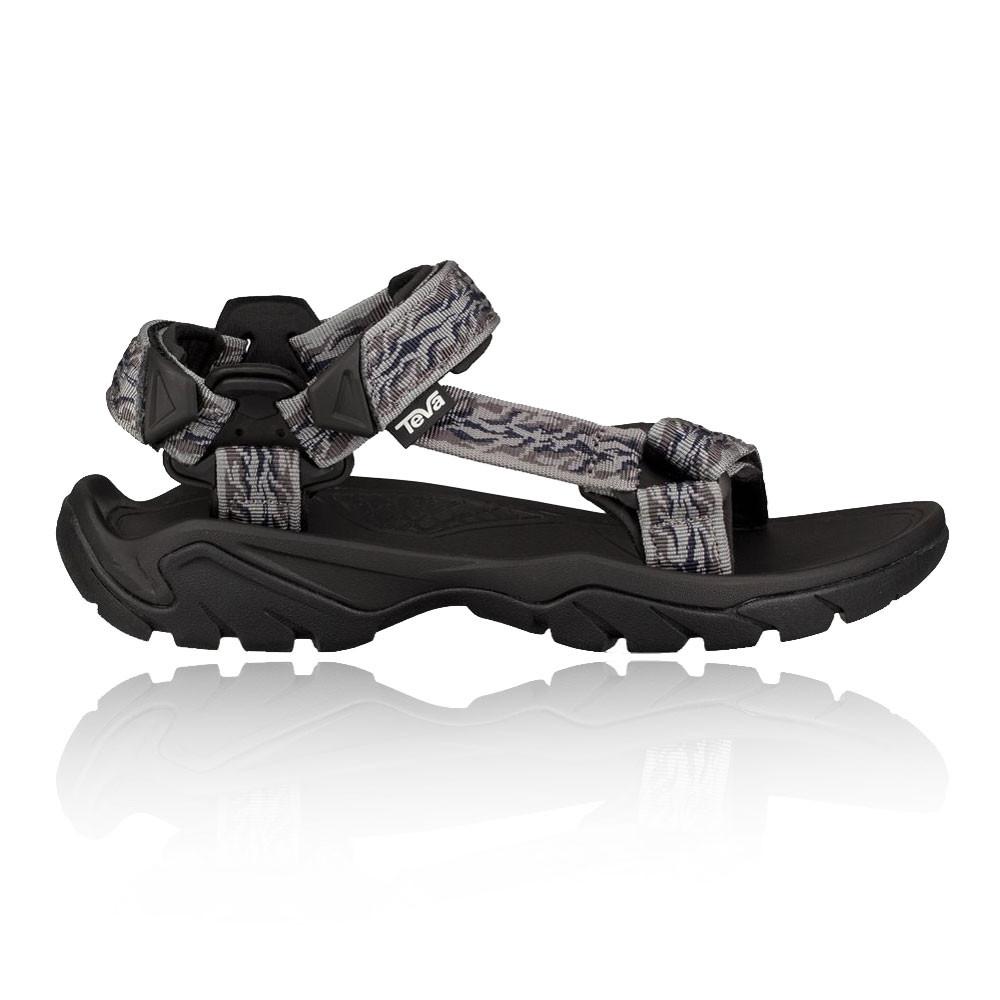 Détails sur Teva Hommes Terra Fi 5 Universal Chaussures De Sport Baskets Sandales Noir Gris