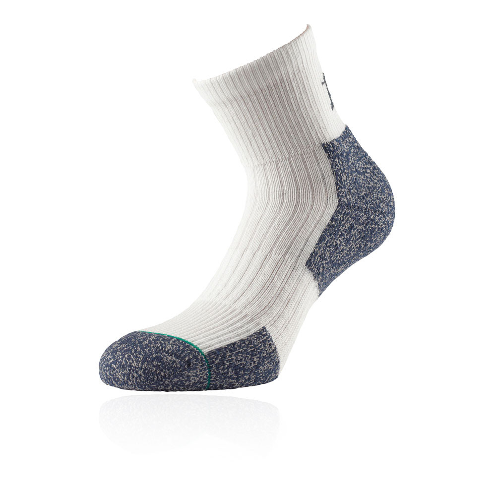 1000 Mile Ultra Performance Womens White Mid Height Sports Running Socks New
