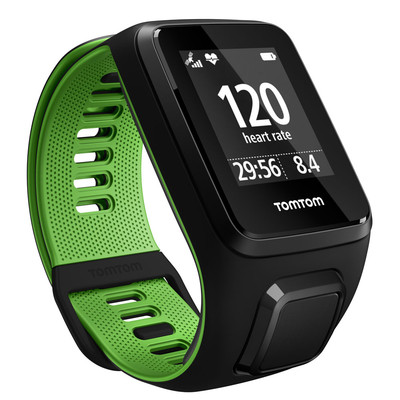 TomTom Runner 3 HR Music GPS Watch With Headphones (Large) - SS17