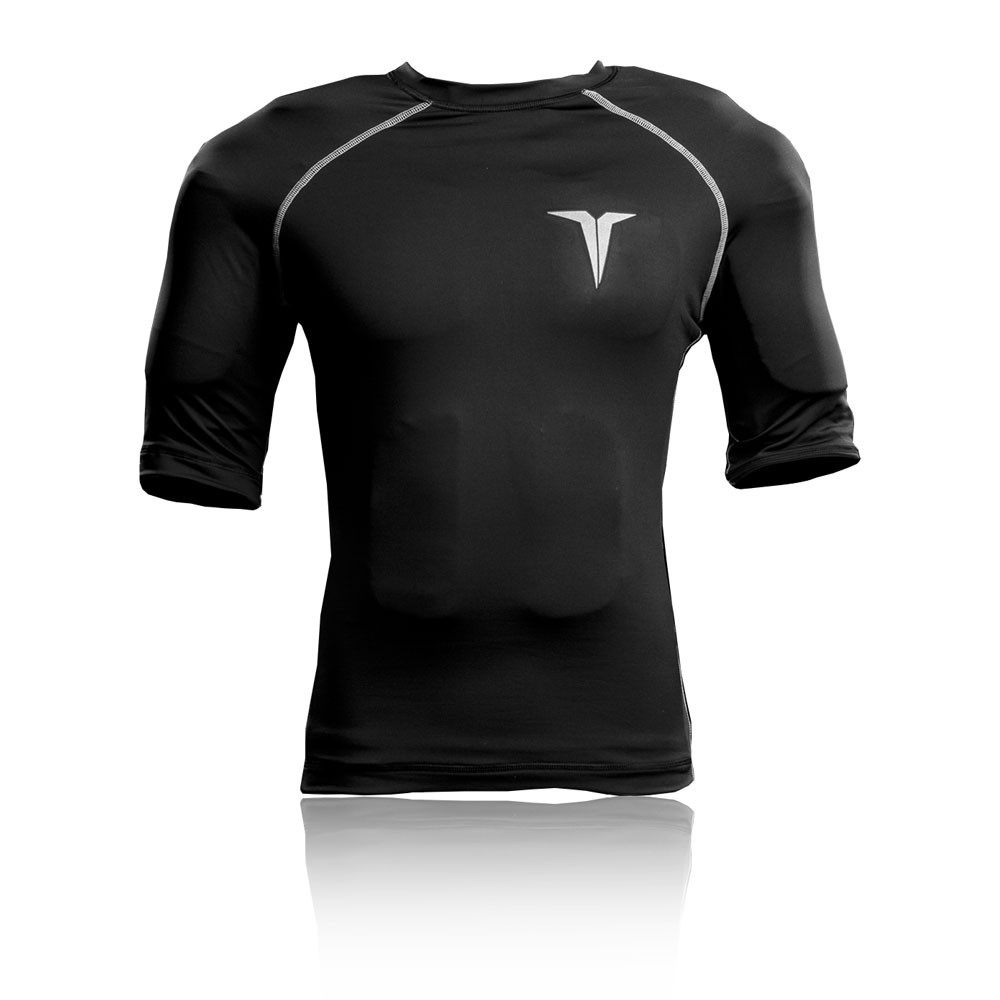 Titin mens black weighted compression short sleeve crew for Compression tee shirts for men