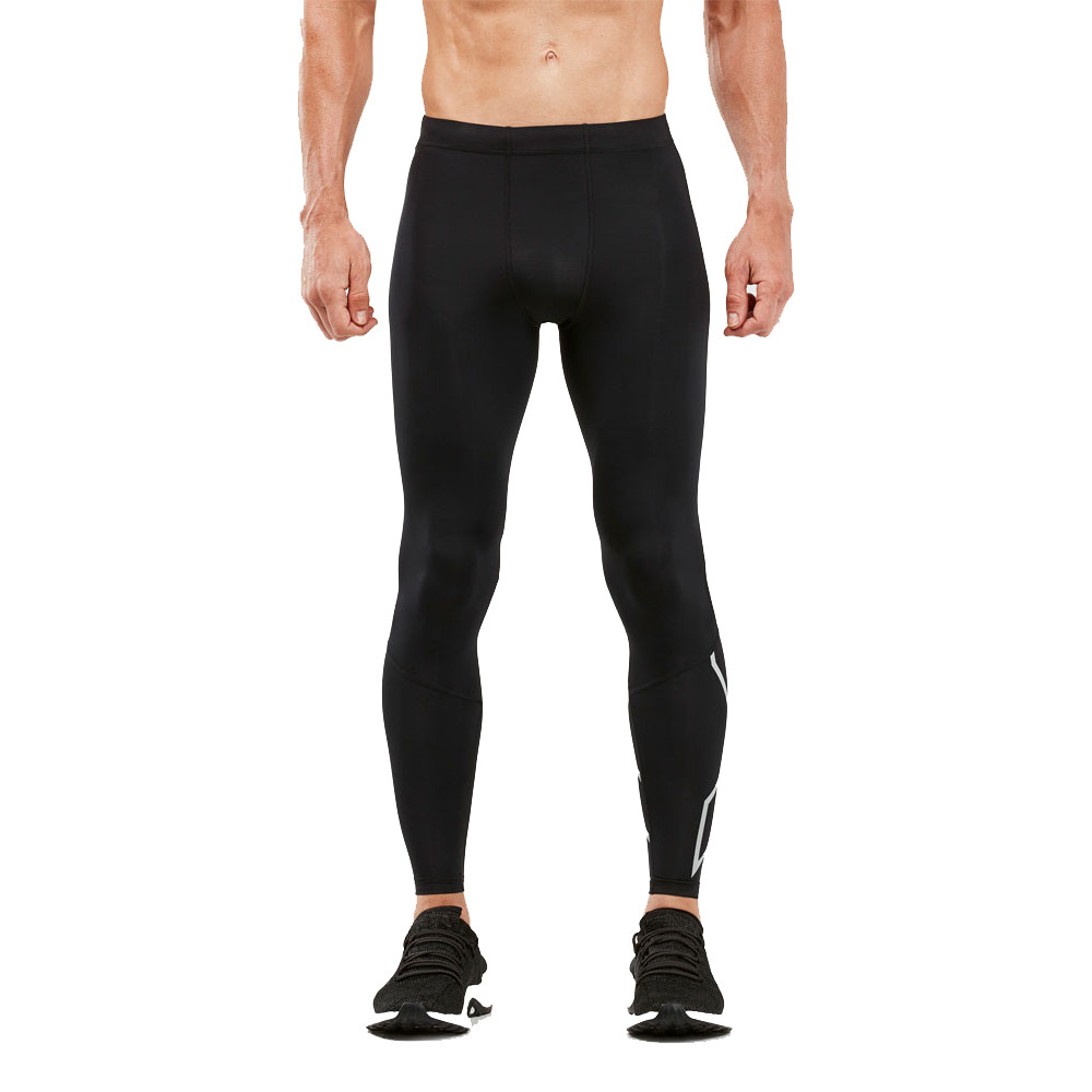 Black Sporting Goods Men's Clothing Knowledgeable 2xu Fitness Mens Long Compression Tights