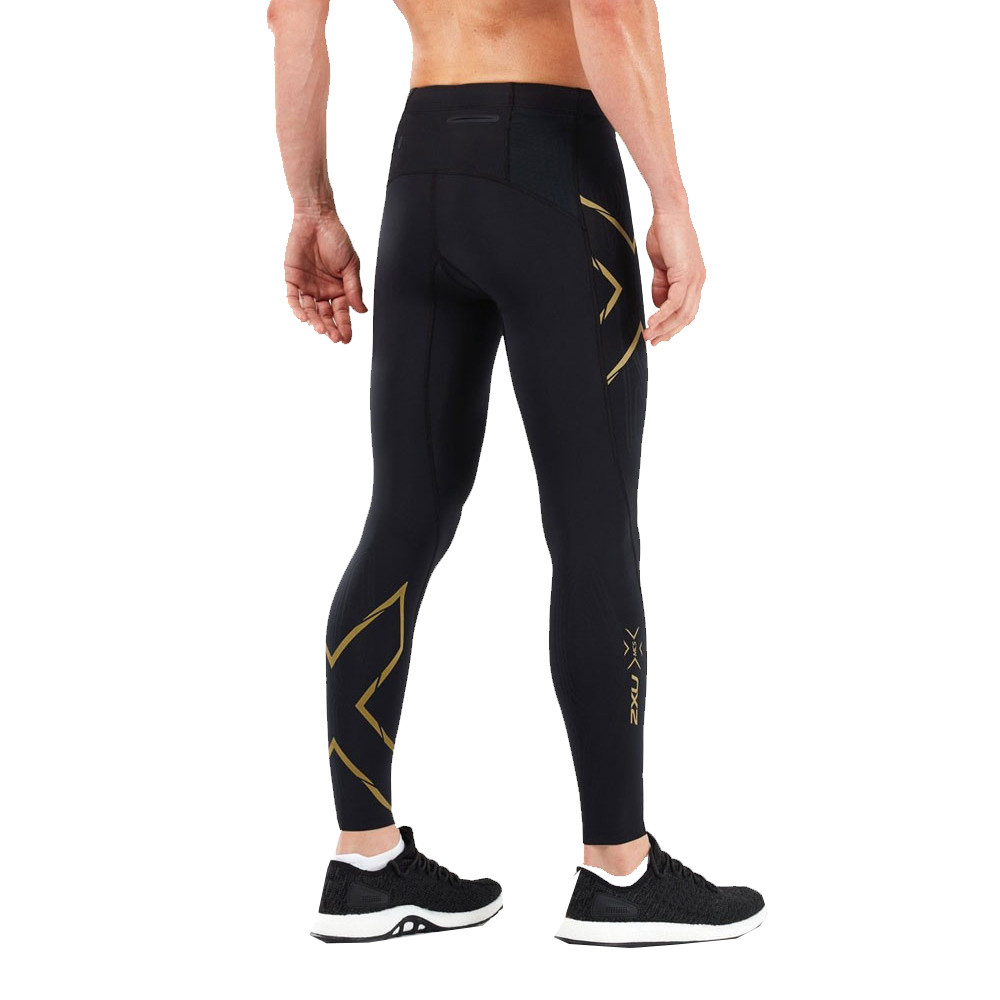 3dba0f17 Details about 2XU Mens MCS Run Compression Tights Bottoms Pants Trousers  Black Gold Sports