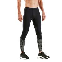 2XU Homme hyoptik COMPRESSION Collants Pantalon Pantalon Gris Sport Running