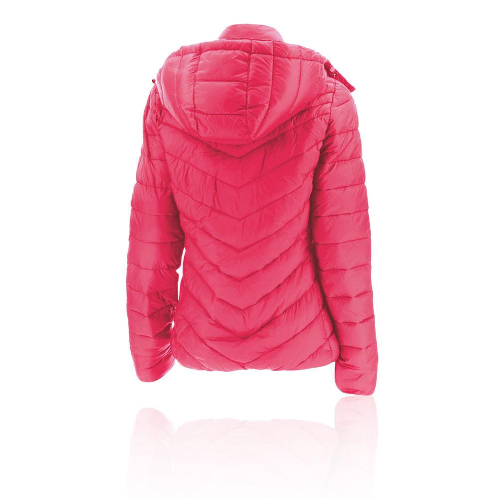 Details zu 2XU Womens Transit Jacket Top Pink Sports Outdoors Full Zip Hooded Warm