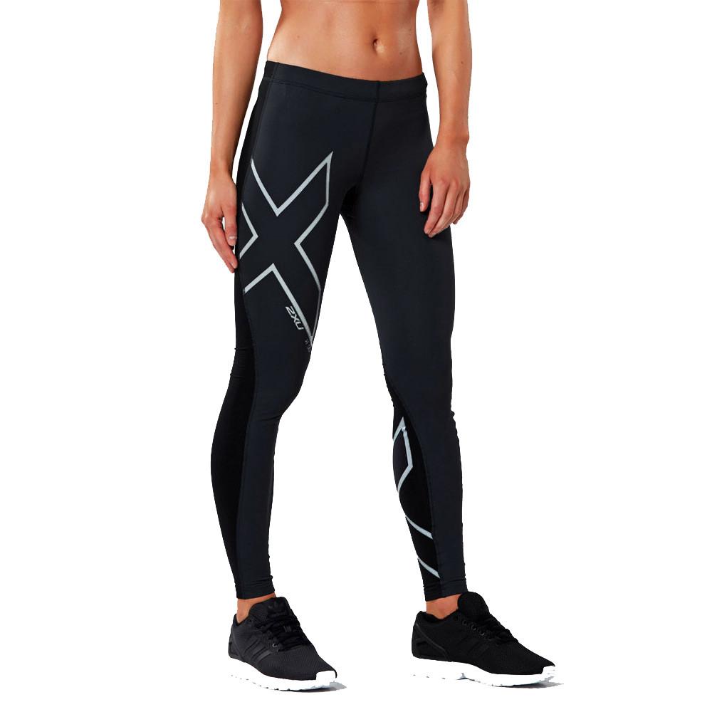 Haut Femme 2XU Vent Defence COMPRESSION Collants Pantalon Pantalon-Noir Sport