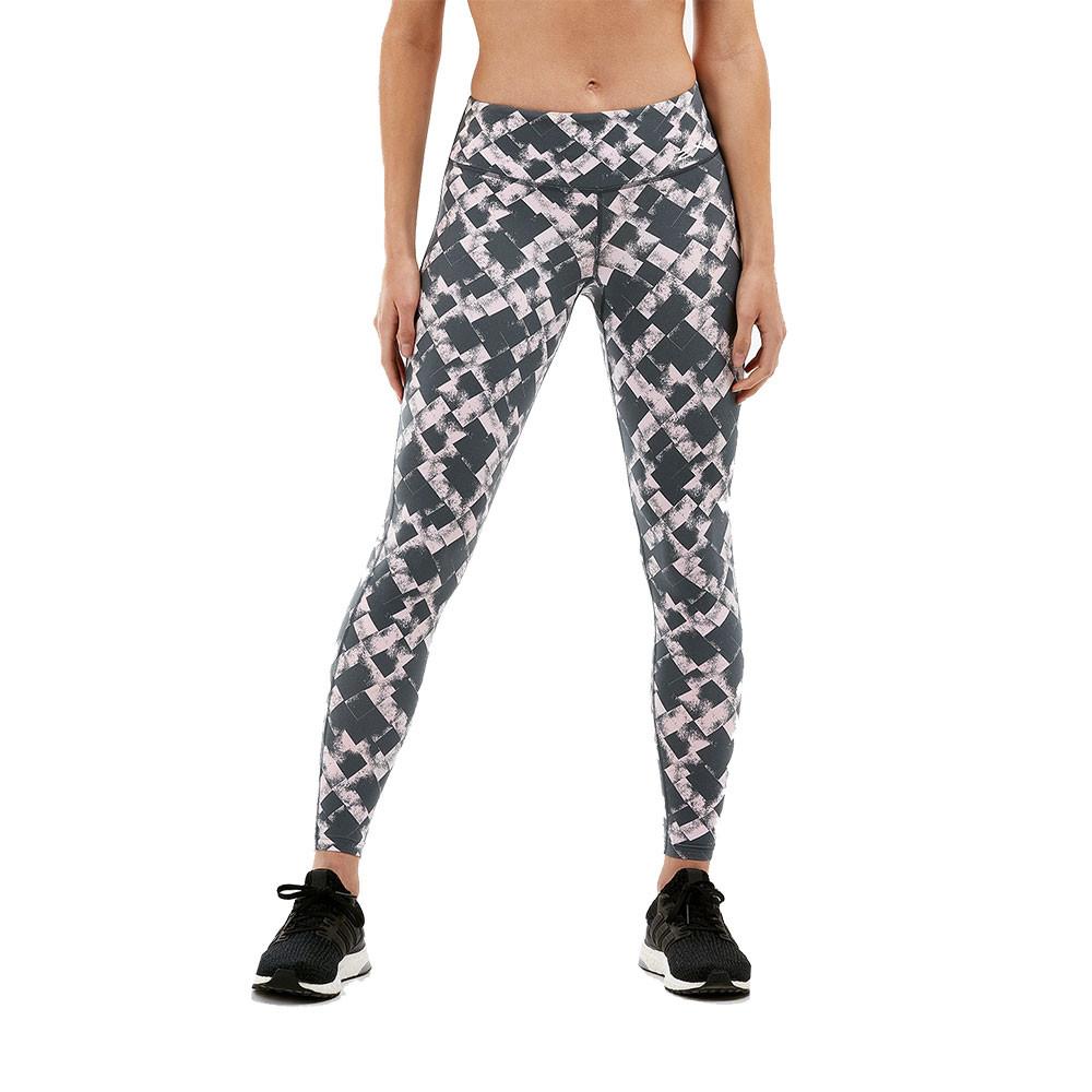 2XU Print Fitness Mid-Rise para mujer compresión mallas