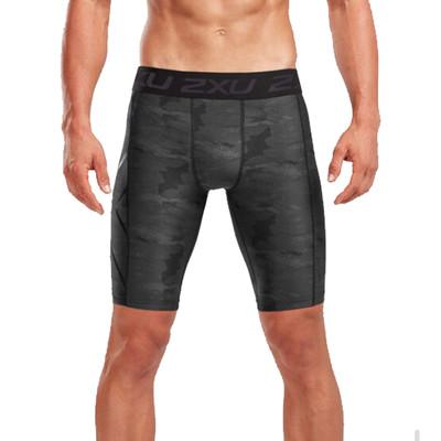 2XU Accelerate Print Compression Shorts