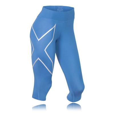 2XU Mid Rise Capri compresión para mujer mallas de running