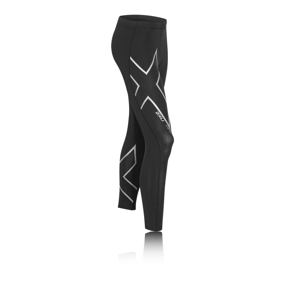 cc69e013 Details about 2XU Hyoptik Thermal Mens Black Long Compression Running Warm  Tights Bottoms