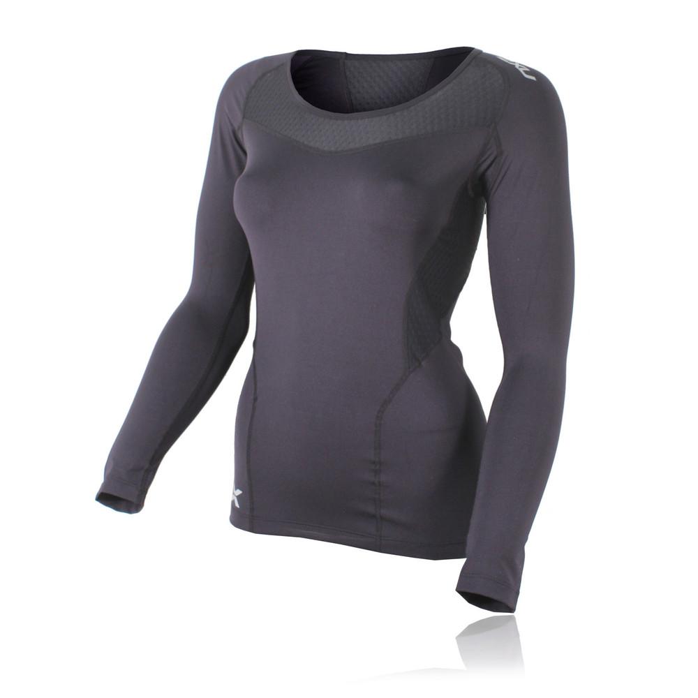 Haut Femme 2XU ACTIVE Compression Tight-Noir Sport Running Respirant