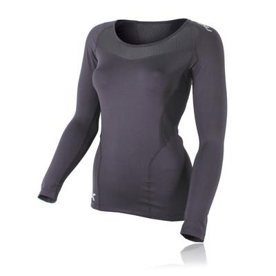 2XU Base compresión de manga larga para mujer camiseta de running - SS20