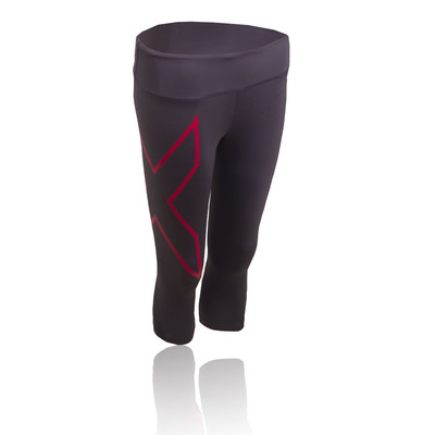 2XU Mid Rise para mujer Capri compresión mallas de running