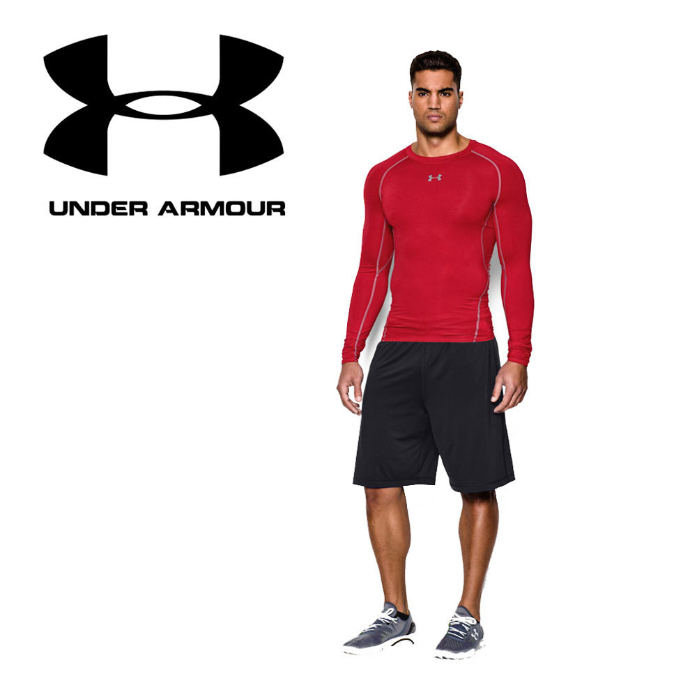 under armour heatgear long sleeve compression top ss17. Black Bedroom Furniture Sets. Home Design Ideas