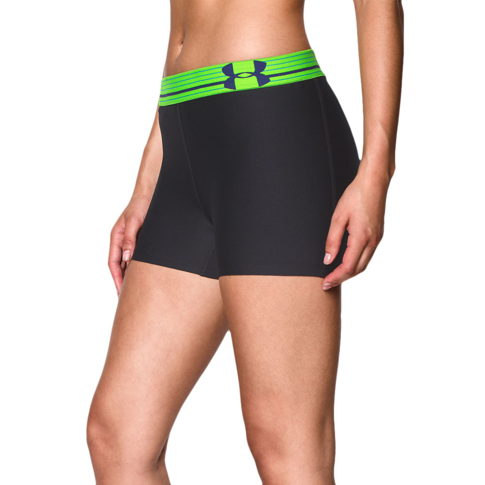Creative Womens UA Authentic 7 Compression Shorts Black  Zoomed Image