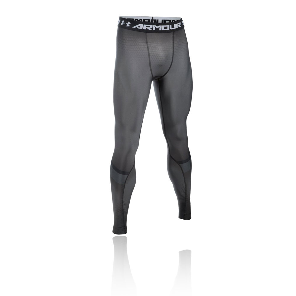 Under Armour Mens Recharge Training Gym Fitness Legging Black Grey Sports
