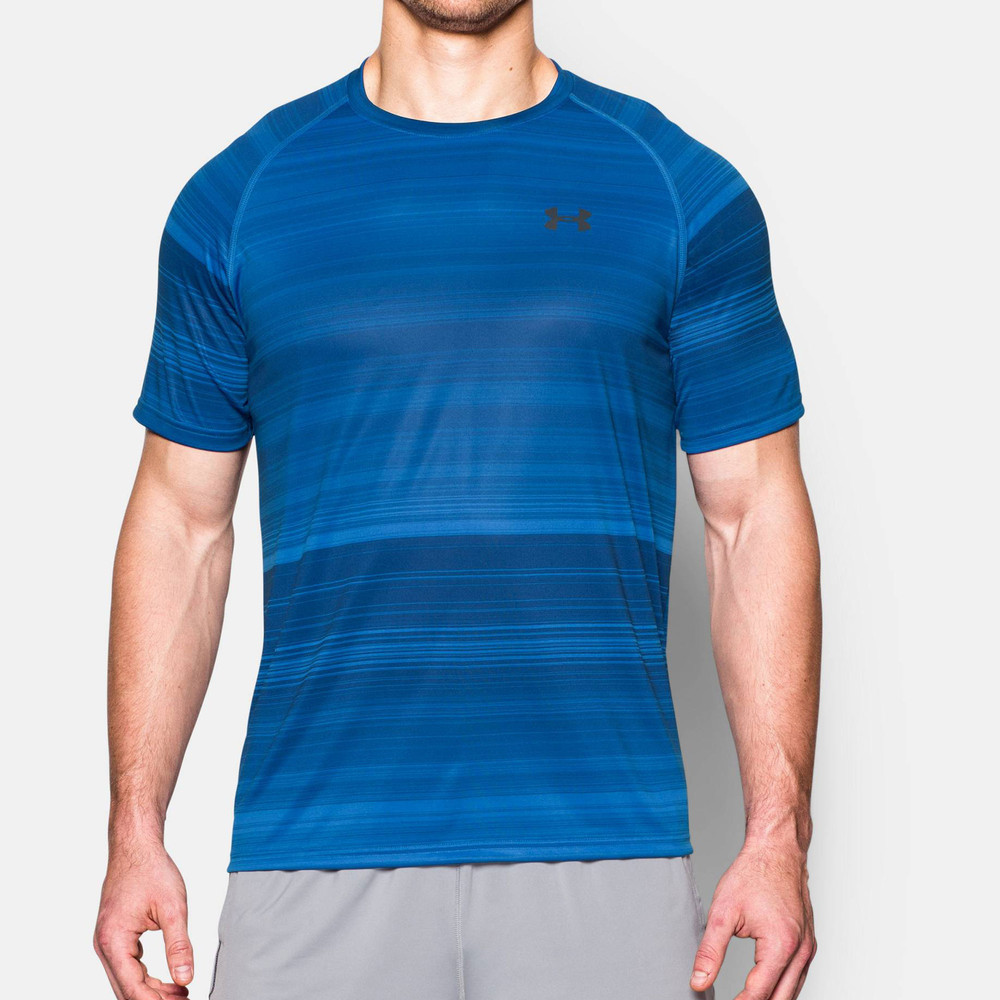 under armour printed tech t shirt ss16