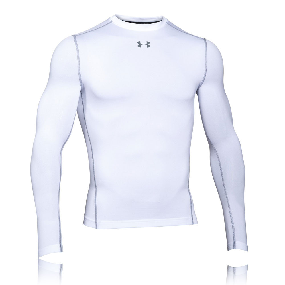 Under armour coldgear armour compression crew running top for Do under armour shirts run small