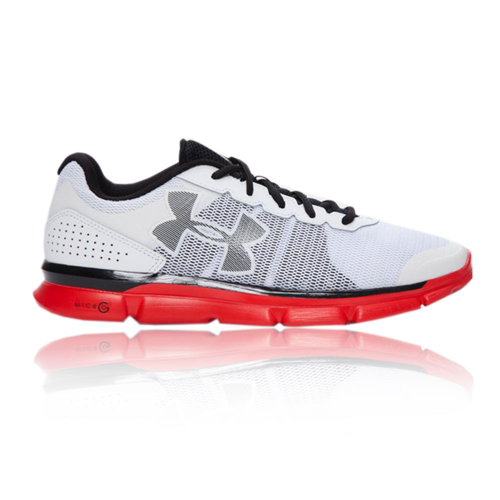 7a5459c62341 Details about Under Armour Mens Micro G Speed Swift Running Shoes Trainers Sneakers  Black Red