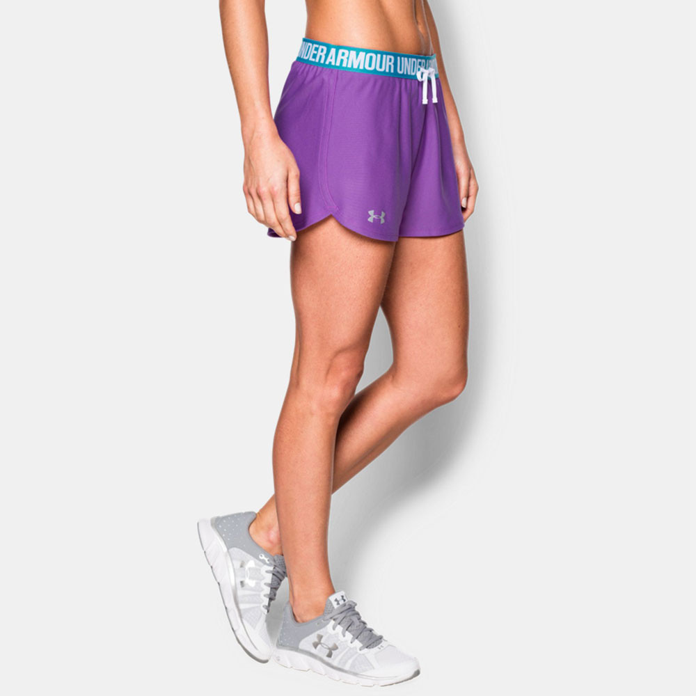 Under armour play up women 39 s running shorts ss16 for Women s fishing shorts