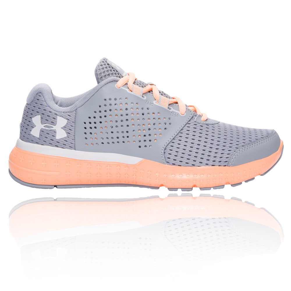 Details about Under Armour Micro G Fuel RN Womens Grey Cushioned Training Shoes  Trainers af3132b6c