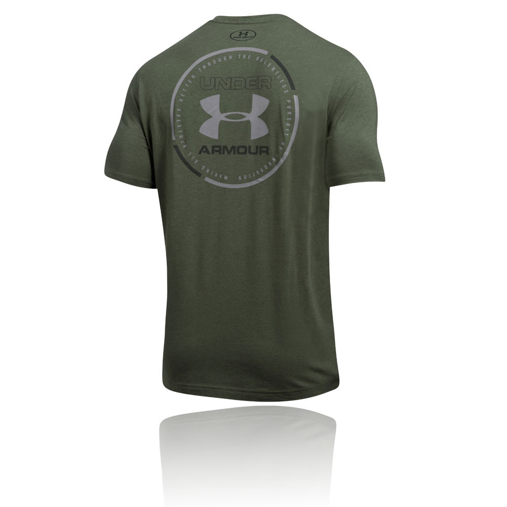 Under armour mantra mens green short sleeve crew neck for Under armour lifting shirts