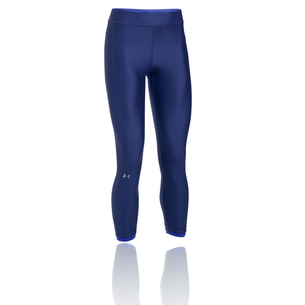 e7b2df9288 Details about Under Armour Womens Heatgear Ankle Crop Training Gym Fitness  Pant Navy Blue