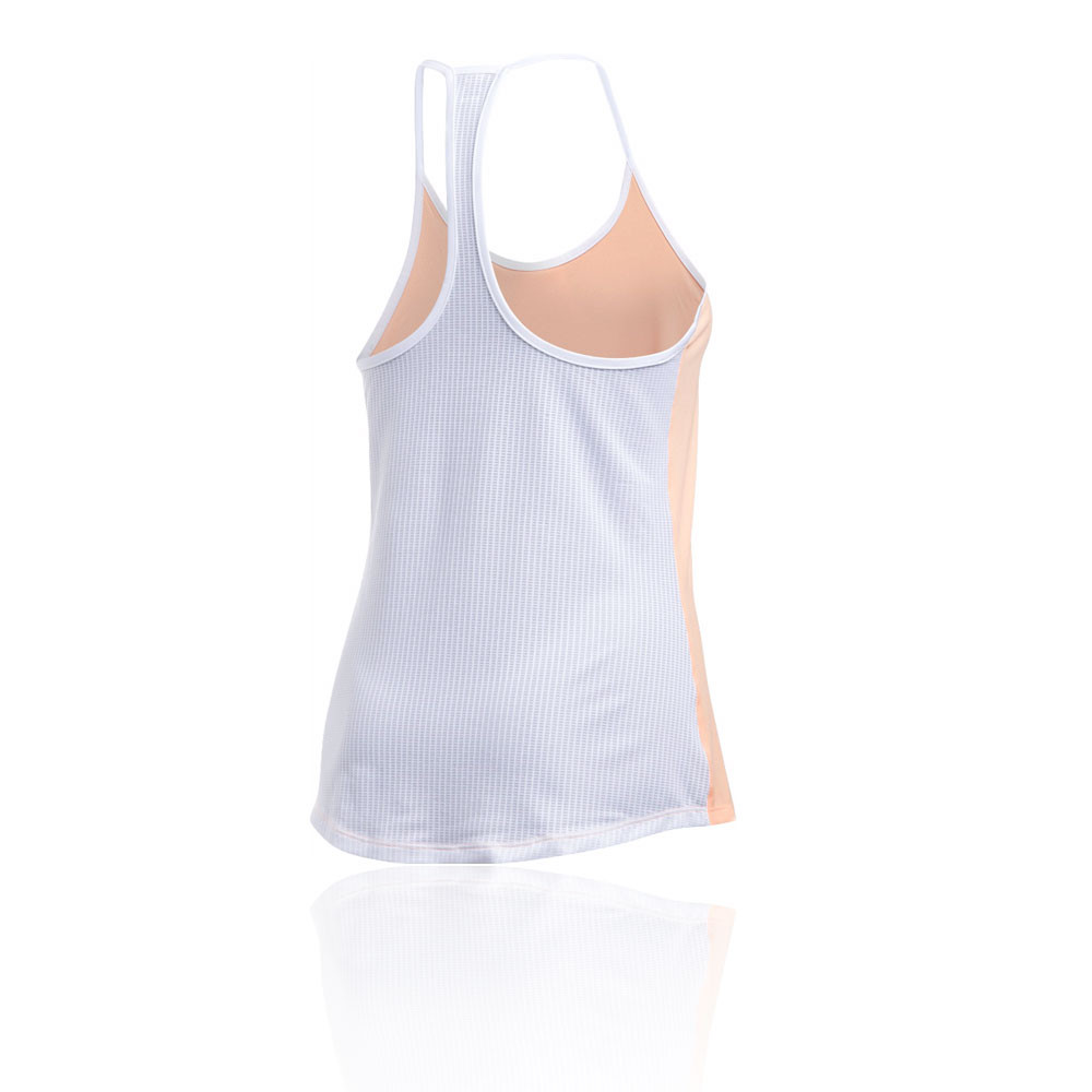 890322f0baa7f Details about Under Armour Fly By Womens Orange Sleeveless Racerback Running  Vest Tank Top
