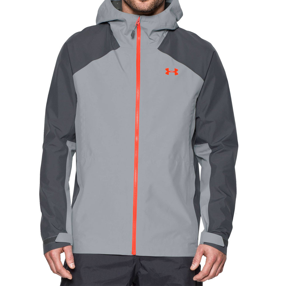 under armour jackets mens. under-armour-hurakan-paclite-mens-grey-waterproof-zip- under armour jackets mens