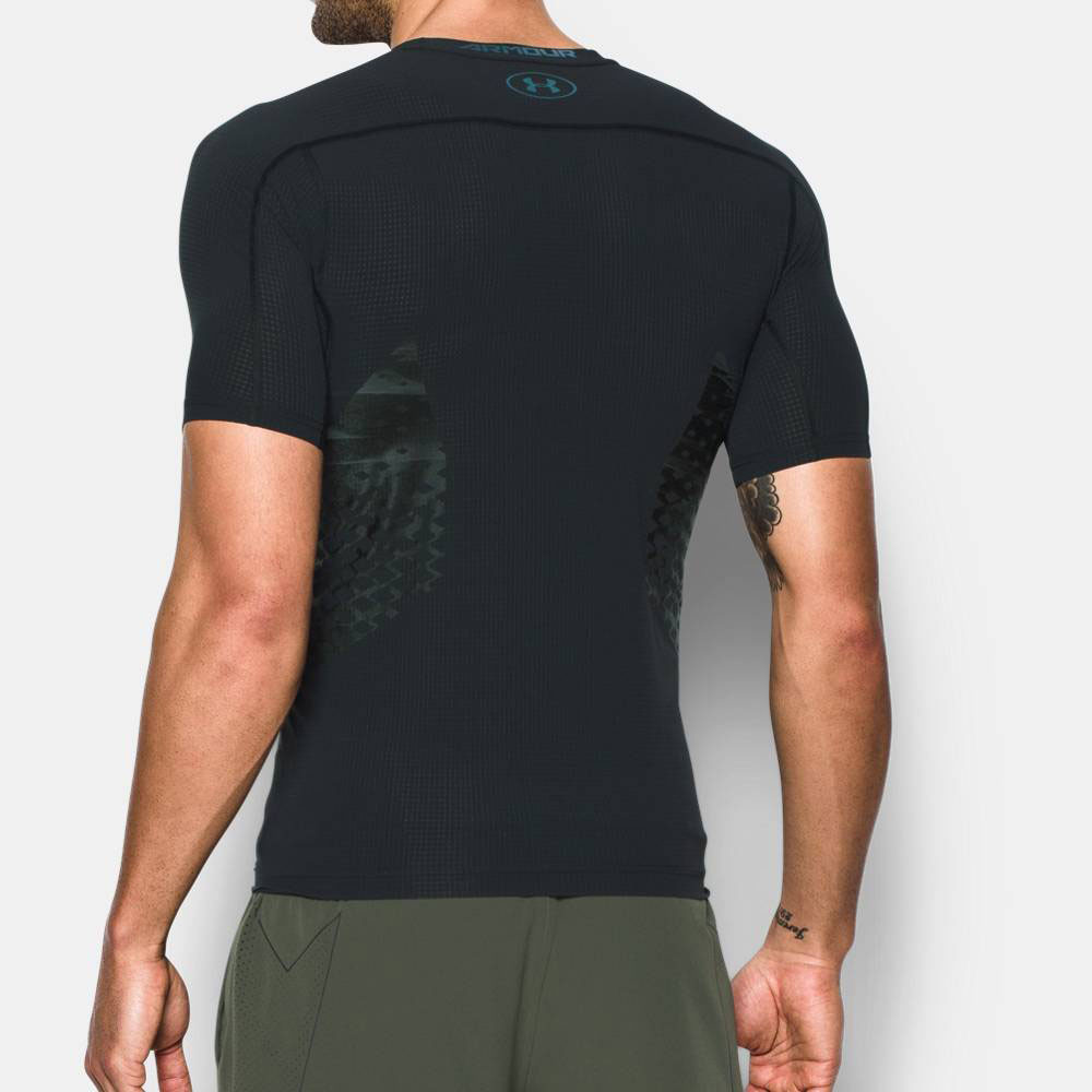 Under armour heatgear zonal mens black compression short for Best short sleeve shirts