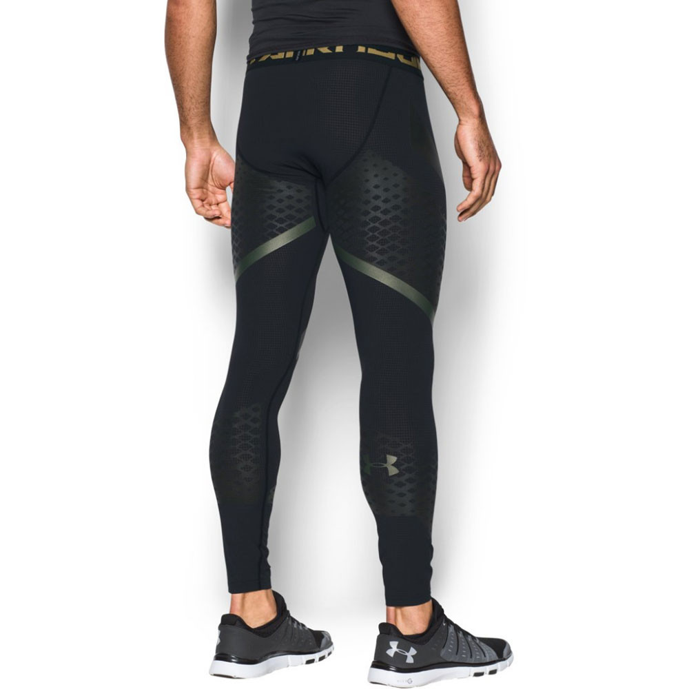 Under Armour HeatGear Zonal Mens Black Compression Gym ...