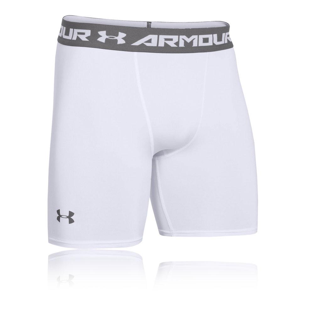 Under Armour HeatGear 2.0 Mens Grey Compression Gym Shorts Pants Bottoms