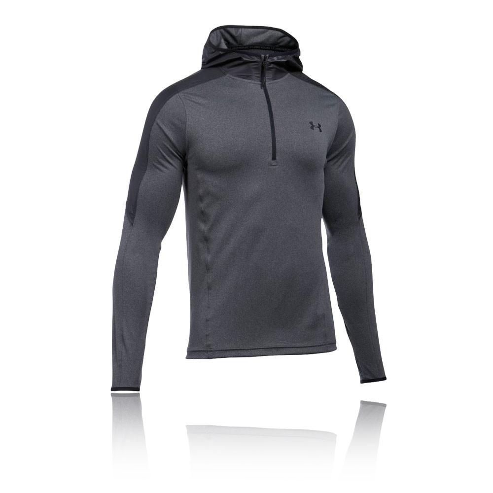 under armour zip up sweatshirt. under-armour-supervent-mens-grey-half-zip-hoody- under armour zip up sweatshirt u