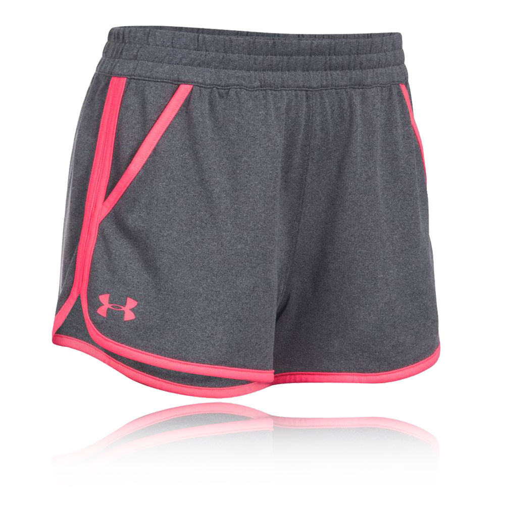 under armour tech solid damen trainingshose kurze hose jogging sport shorts grau ebay. Black Bedroom Furniture Sets. Home Design Ideas