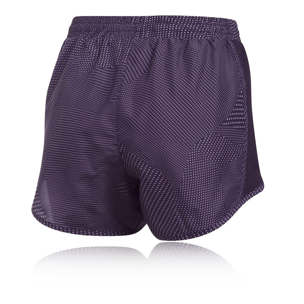 Under armour fly by printed womens purple running gym for Women s fishing shorts