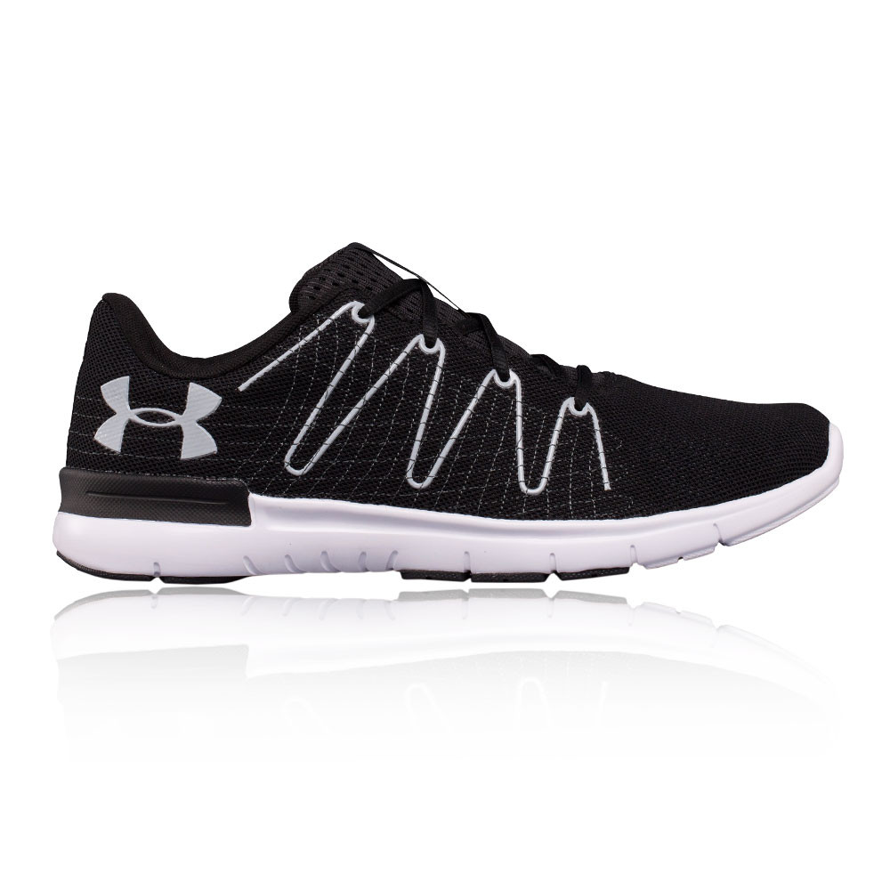 f20146f530f Under Armour Thrill 3 Mens Black Sneakers Running Sports Shoes ...