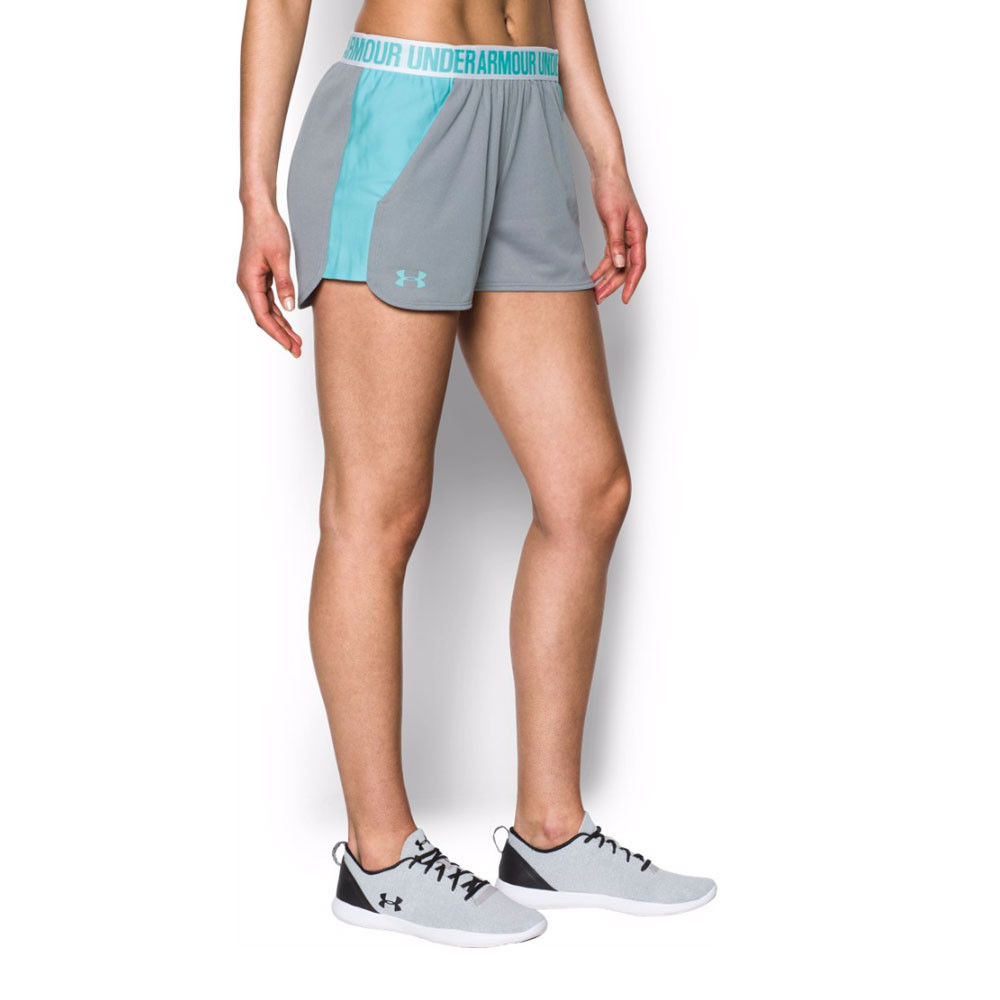under armour play up damen grau trainingshose sport shorts. Black Bedroom Furniture Sets. Home Design Ideas