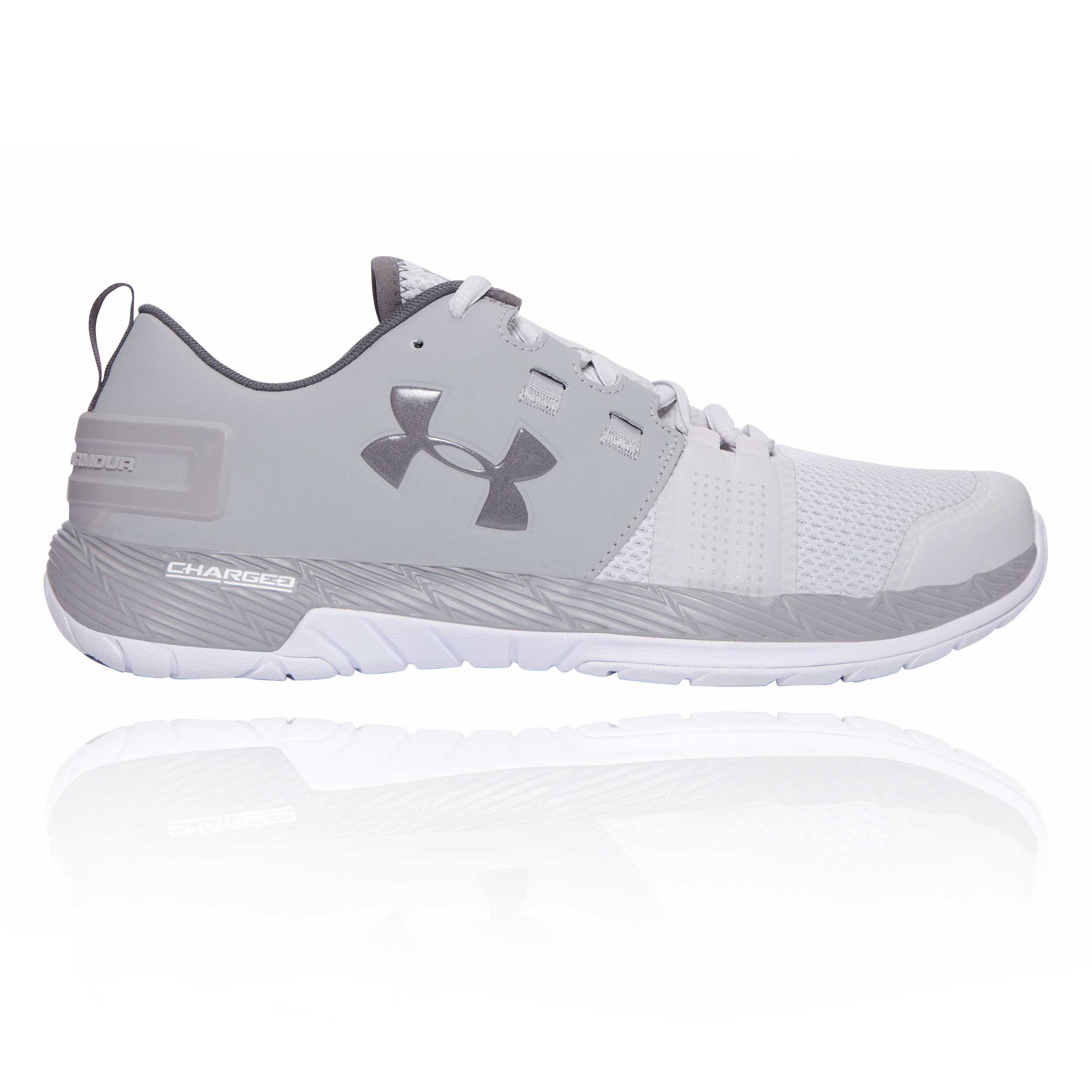 8a0a6c21e4 Details about Under Armour Mens Commit Training Gym Fitness Shoes Grey  Breathable Trainers