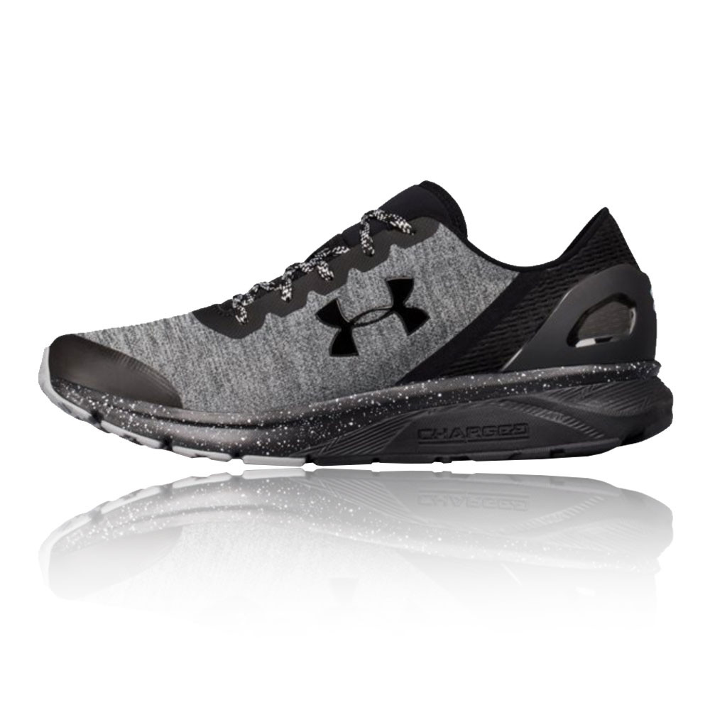 fb4a917a6628b Details about Under Armour Mens Charged Escape Running Shoe Black Grey  Sports Breathable