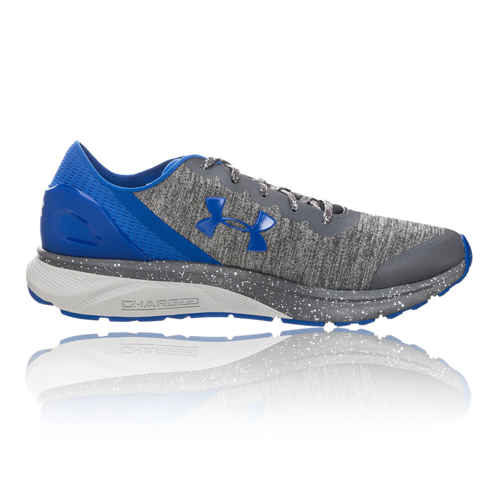 817eb92f Details about Under Armour Mens Charged Escape Running Shoes Trainers Sneakers  Blue Grey