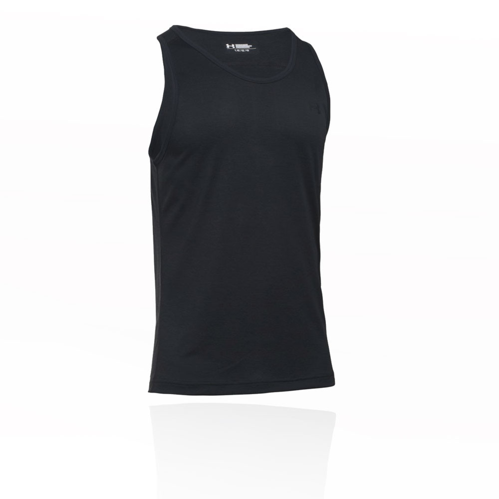 Under Armour Hombre Tech Camiseta Sin Mangas Top Negro Deporte Gimnasio  Correr abf8c1d70c5be