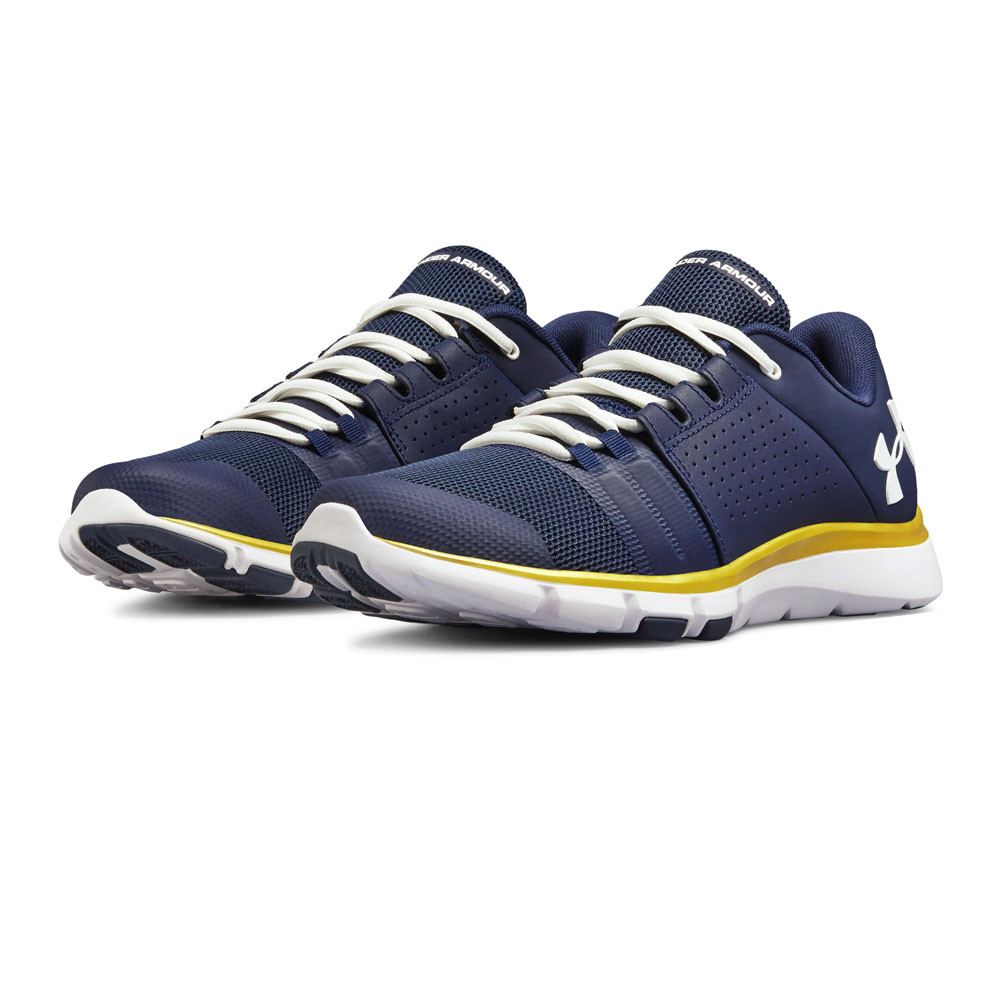 a0cad7db53 Details about Under Armour Mens Strive 7 NM Running Shoes Trainers Sneakers  Blue Navy Sports