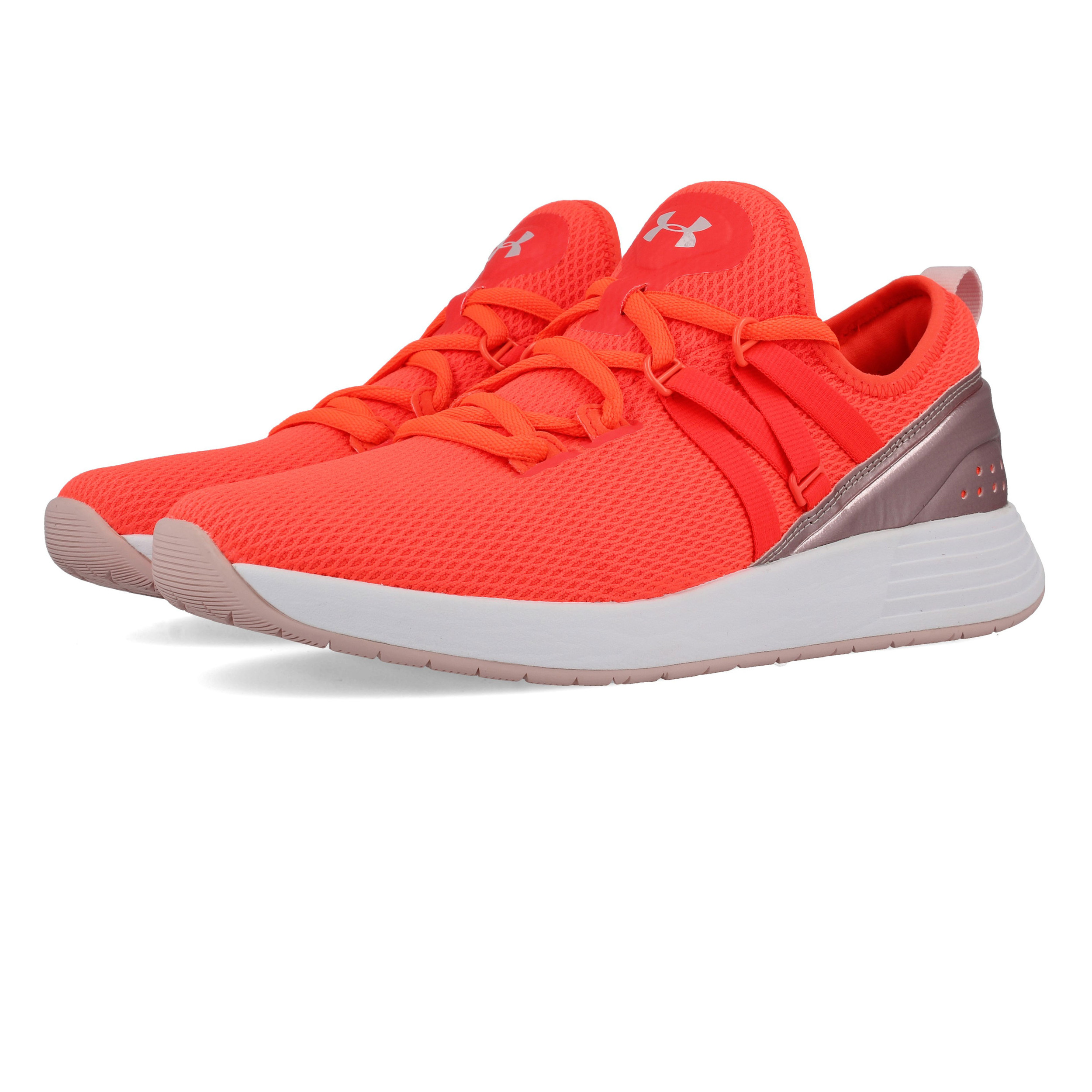 17afaffa09 Details about Under Armour Womens Breathe Training Gym Shoes Orange  Breathable Trainers