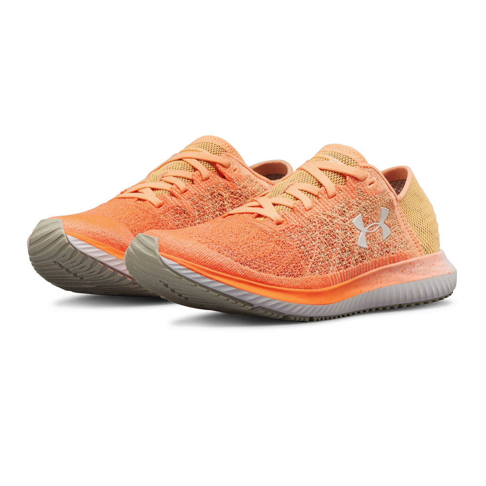 c5e60b36e5 Details about Under Armour Womens Threadborne Blur Running Shoes Trainers  Sneakers Orange