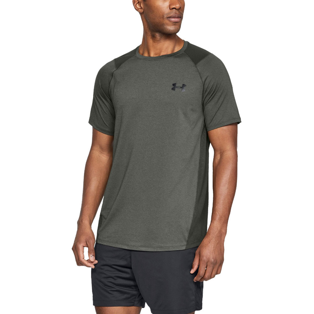 b9b4b69b Details about Under Armour Mens MK-1 Short Sleeved T Shirt Tee Top Grey  Sports Gym Breathable