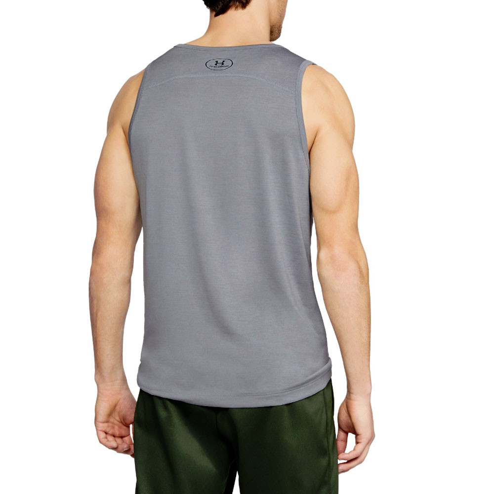 ce6ad05ae6b1b5 Under Armour Mens Tech Graphic Tank Top Grey Sports Gym Breathable  Lightweight
