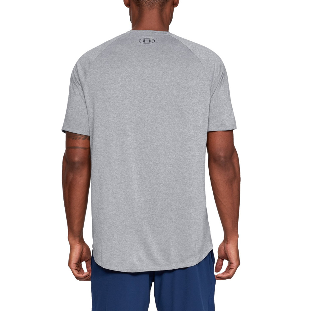 c7f15298a Details about Under Armour Mens Tech Short-Sleeve Tee Grey Sports Gym  Breathable Lightweight